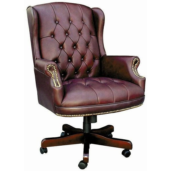 Boss Wingback Traditional Chair, Burgundy