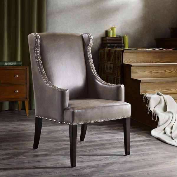 Marcel Leather Wingback Chair