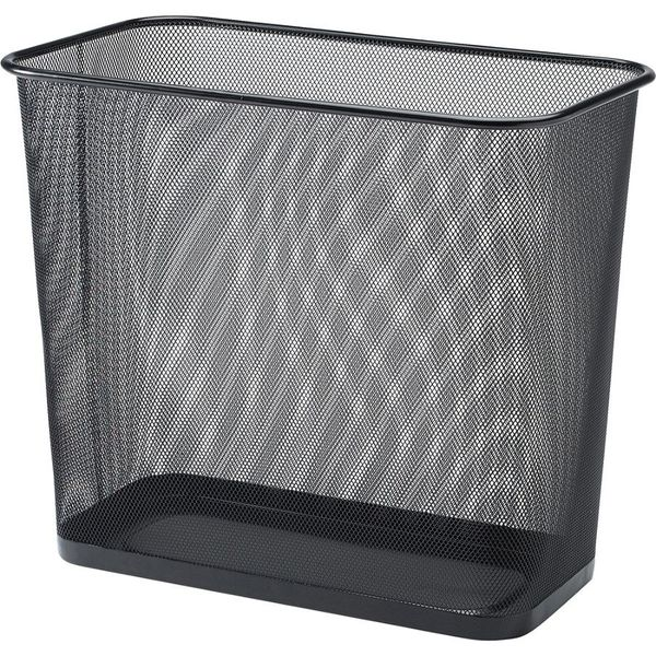 Rectangular Waste Bin, Steel Mesh, Black