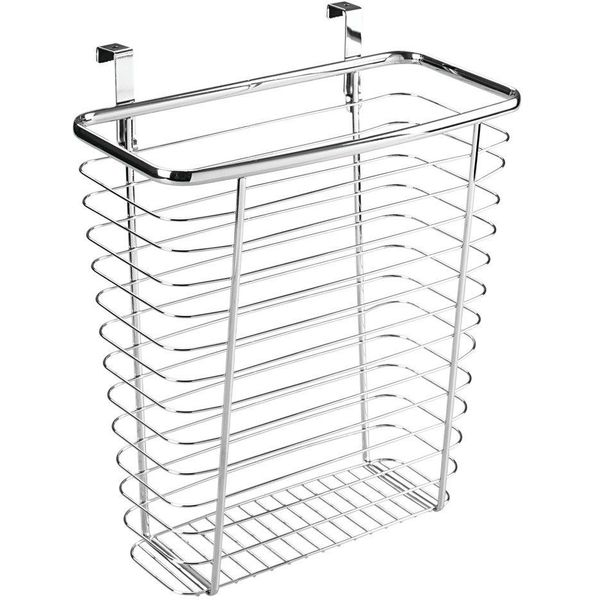 Design Ideas Meridian Waste Can, Silver