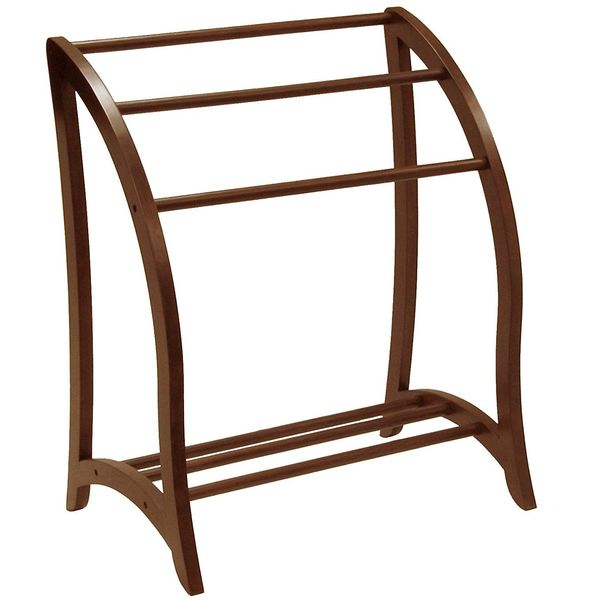 Winsome Wood Towel Rack, Antique Walnut
