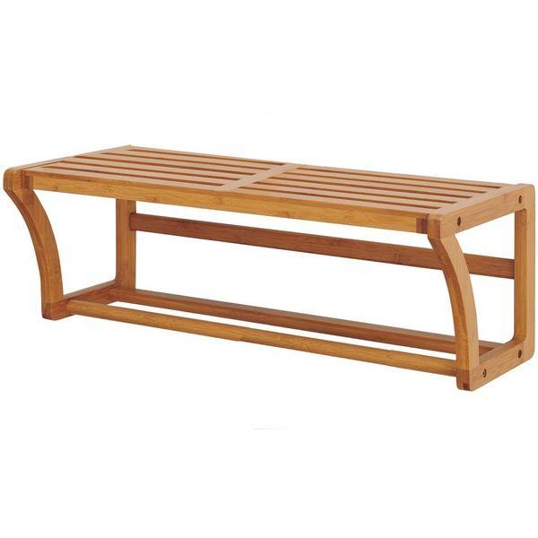 Organize It All Natural Bamboo Wooden Towel Shelf
