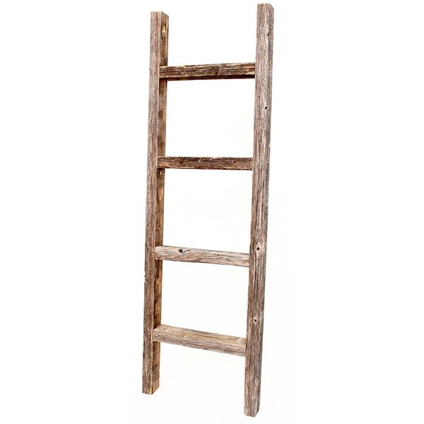 BarnwoodUSA Rustic Wooden Ladder Towel Rack