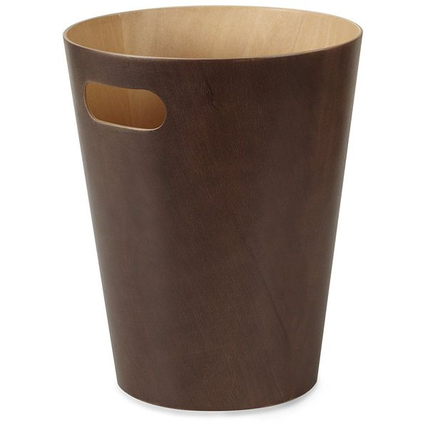 Umbra Woodrow Wooden Waste Can, Brown