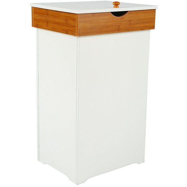 Maple Wooden Kitchen Trash Bin