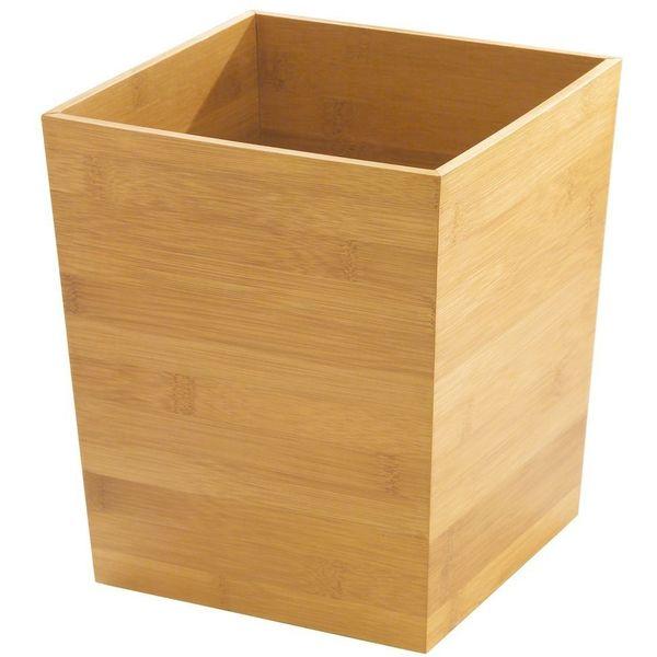 InterDesign Formbu Bath Collection TrashCan, Natural Bamboo