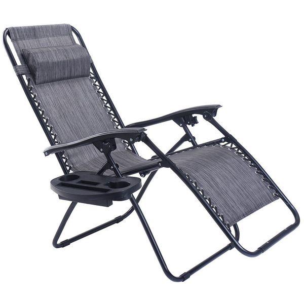 Goplus Folding Zero Gravity Reclining Lounge Chair