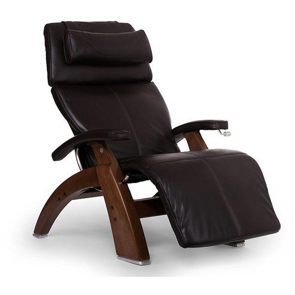 Perfect Chair Premium Full Grain Leather Zero-Gravity Manual Recliner, Espresso