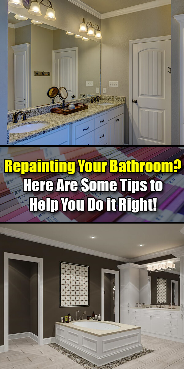 Repainting Your Bathroom Here Are Some Tips to Help You Do it Right! - Easy Home Concepts