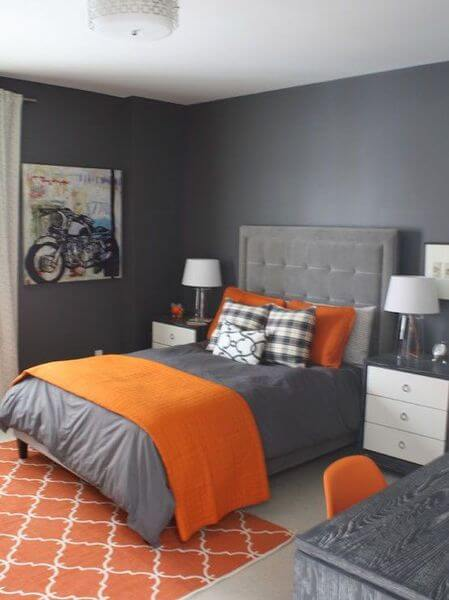 45 Blue and Orange Bedroom Ideas - Easy Home Concepts